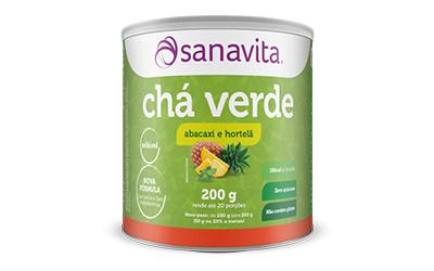 Chá Verde Sanavita – Abacaxi com Hortelã