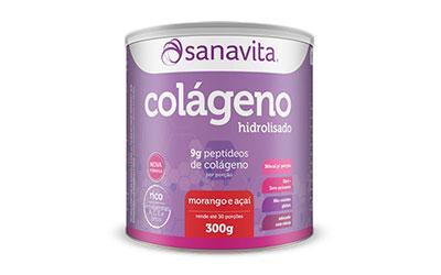 Colágeno Hidrolisado Sanavita – Morango e Açaí